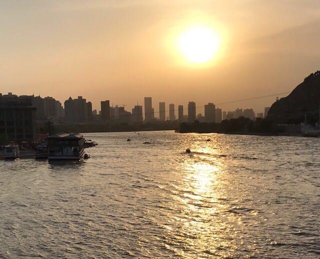 【蘭州観光】中山橋から見た黄河の姿
